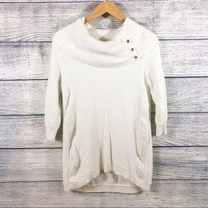 WHBM snap turtleneck tunic sweater Size medium